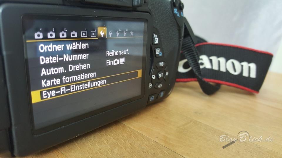Canon EOS 650D mit Eyefi-Mobi-Karte