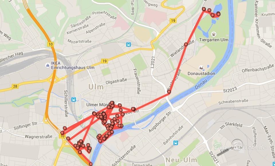 Fotomarathon-Ulm Strecke